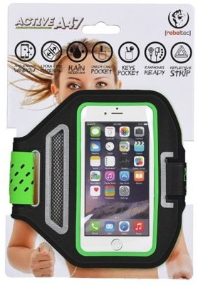 "REBELTEC Etui opaska sportowa na ramię na telefon do 4,7"" ACTIVE A47 kolor czarno zielony"