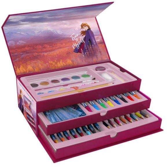 GLOBIX Kraina Lodu 2 Zestaw przyborów do rysowania, kolorowania i malowania