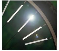 ProFex Klipsy odblaskowe na szprychy 12szt odblaskowe na szprychy 12szt