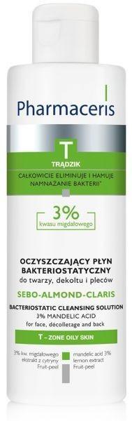 Pharmaceris OCZYSZCZAJĄCY PŁYN BAKTERIOSTATYCZNY do twarzy, dekoltu i pleców 3% kwasu migdałowego SEBO-ALMOND-CLARIS