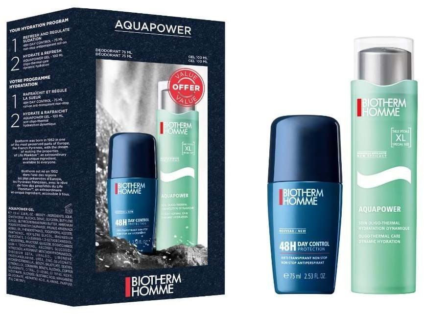 Biotherm Homme Aquapower Oligo-Thermal Dynamic Hydration 100ml + 75ml deodorant 48h day control 3660732513833