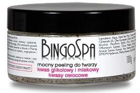BingoSpa Mocny peeling błotny do twarzy kwas glikolowy i mlekowy kwasy owocowe 100g 1234582655