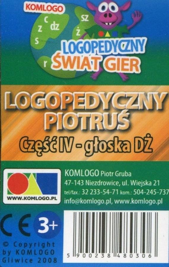 Komlogo Komlogo, karty Logopedyczny Piotruś Część IV: głoska DŻ
