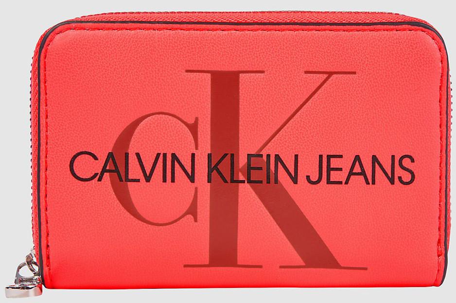 Calvin Klein różowy portfel Accordion Zip Around Fluo Pink K60K607229/TGM