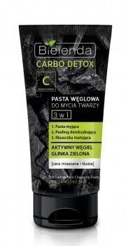 Bielenda Carbo Detox Pasta węglowa do mycia twarzy 3w1 150g 1234590973