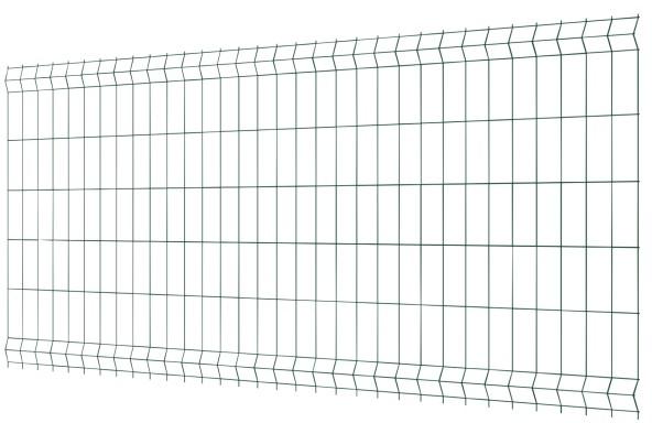 Panel ogrodzeniowy 3D 250 x 123 cm oczko 7 5 x 20 cm ocynk zielony