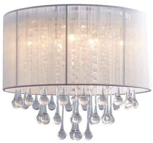 Zuma Line Sufitowa LAMPA glamour VERONA RLX92174-8A klasyczna OPRAWA okrągły PLAFON glamour biały przezroczysty RLX92174-8A