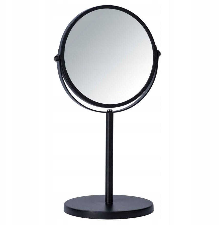 WENKO Lusterko Kosmetyczne Stojące Czarne śr 17cm