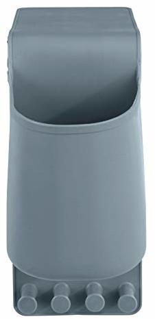 Wenko WENKO 23481100 uchwyt na suszarkę do włosów Ampio, mocowanie bez wiercenia, silikon, 10 x 36,5 x 10 cm
