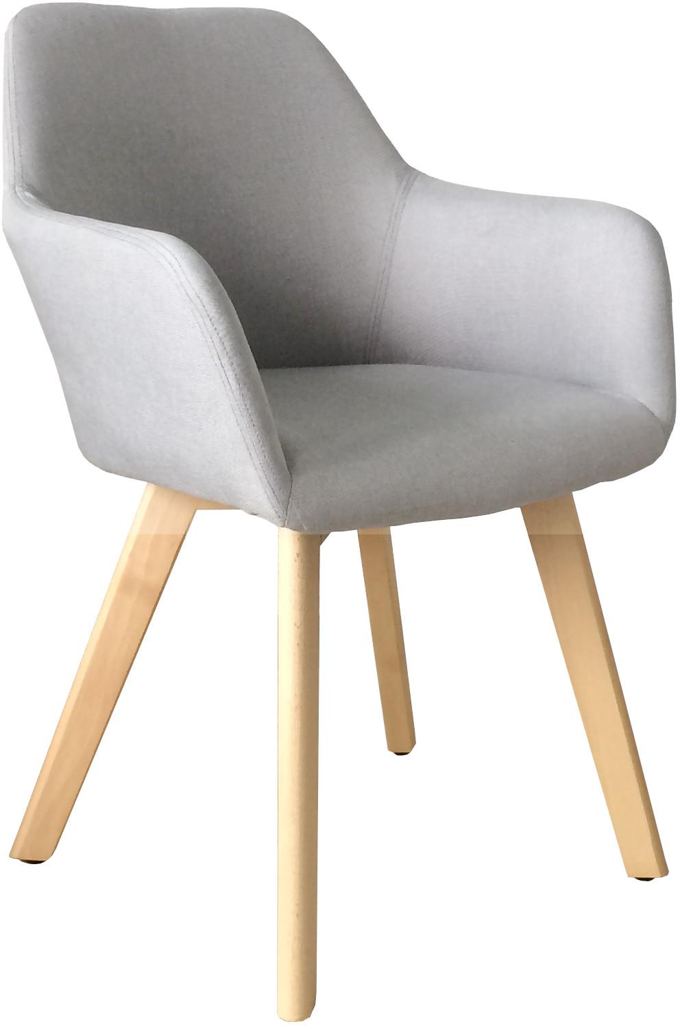 ExitoDesign Nowoczesne krzesło tapicerowane z podłokietnikami Monaco light grey QS-D4062-3-3