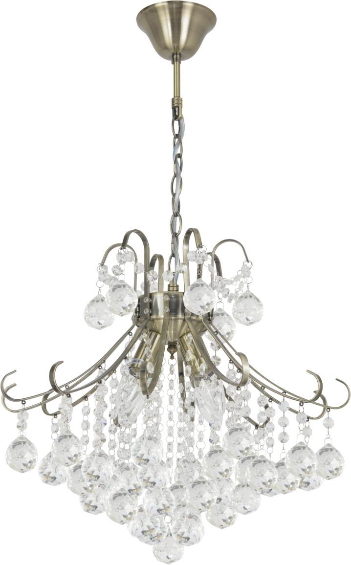ELEM Żyrandol BARCELONA S ELEM styl glamour kryształ mosiądz metal szkło 6245/4 21QG
