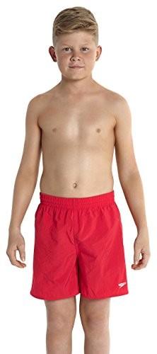Speedo chłopcy Waters Boardshorts Solid Leisure 15 cali, czerwony 8-356916446xs