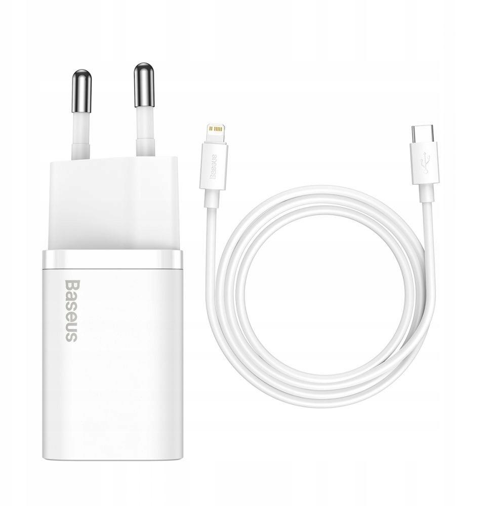 Baseus Ładowarka sieciowa + kabel do iPhone iPad -