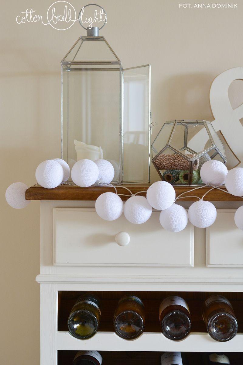 Cotton Ball Lights CottonBallLight Kompozycja kolorowych kul LED Pure white