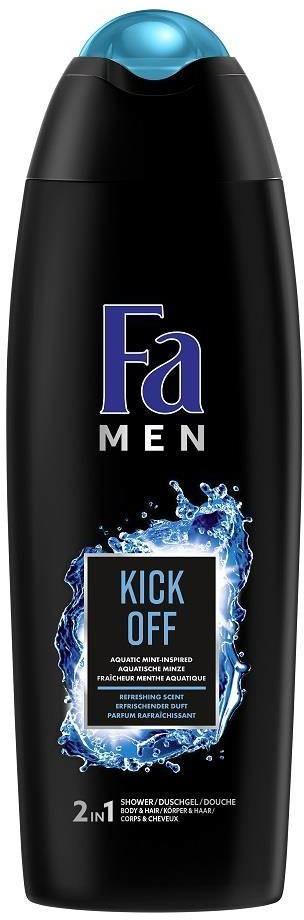 Fa Men Kick Off 2in1 Bath And Shower żel pod prysznic do ciała i włosów dla mężczyzn Aqua Mint 750ml 89917-uniw