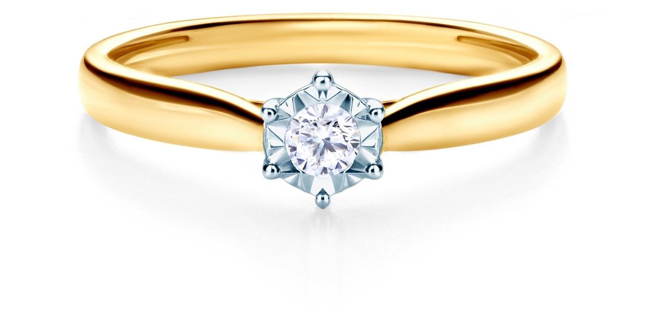 Savicki Pierścionek zaręczynowy dwukolorowe złoto, diament SAVR61118 YW 3