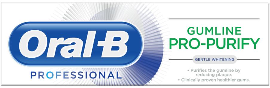 Oral-B PRO-PURIFY Gentle Whitening 75ml - profesjonalna pasta wybielająca do zębów