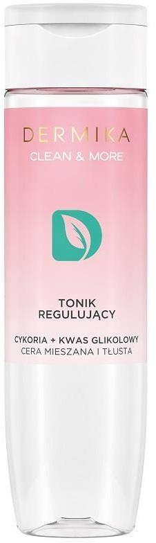 Dermika Clean & More tonik regulujący do cery mieszanej i tłustej Cykoria & Kwas Glikolowy 200ml