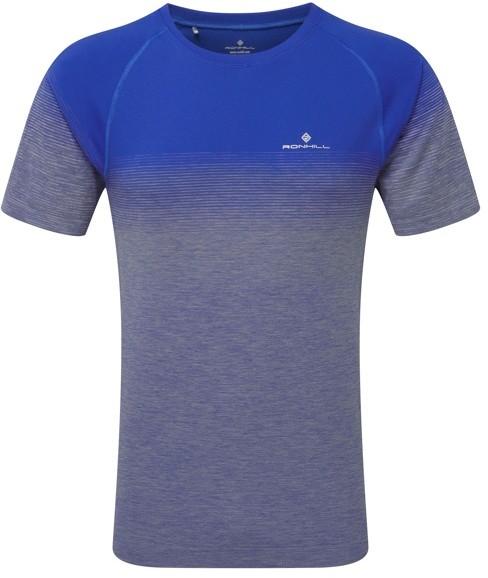 RONHILL RONHILL koszulka biegowa męska INFINITY MARATHON SS TEE szaro-niebieska