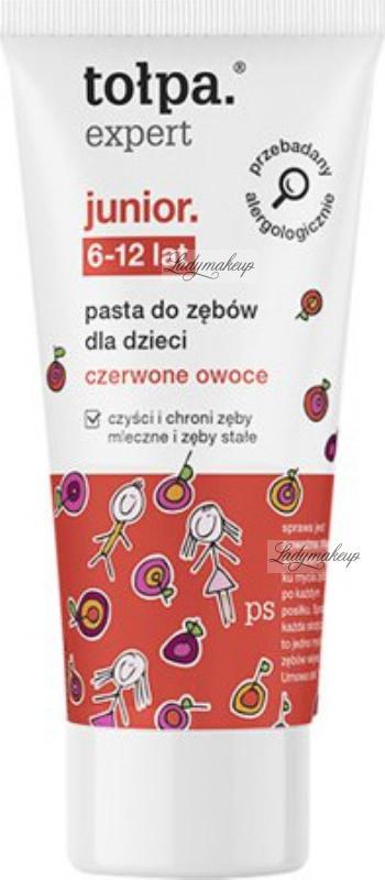 Tołpa Expert Junior - Pasta do zębów dla dzieci - Czerwone Owoce - 50 ml