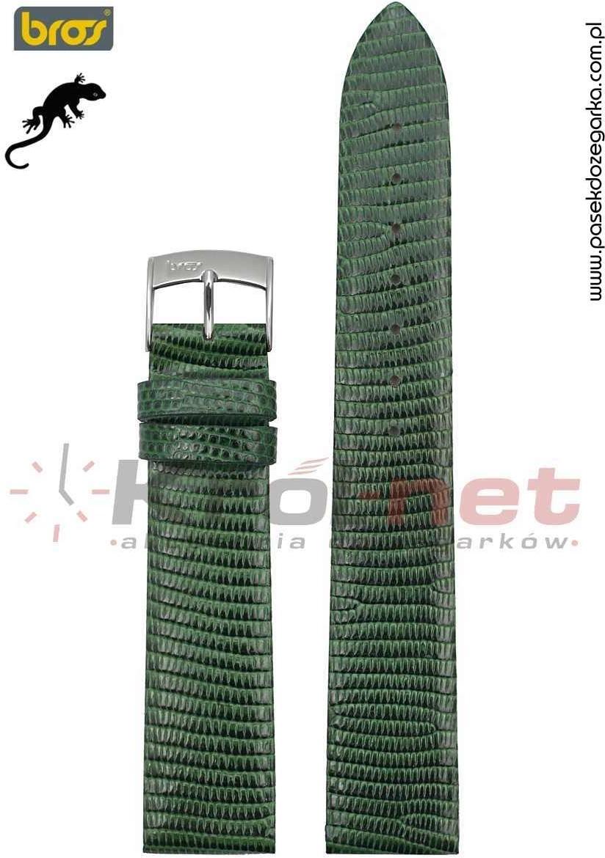 Bros Pasek do zegarka 8231/70/20 - jaszczurka, ciemna zieleń 8231/70/20