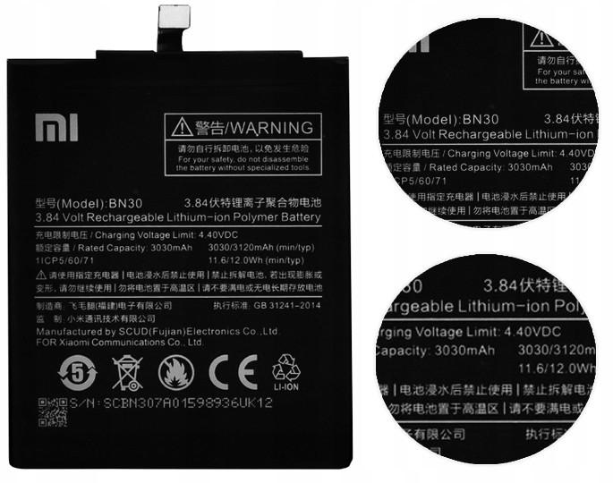 Xiaomi Bateria BN30 Redmi 4A Oryginalna