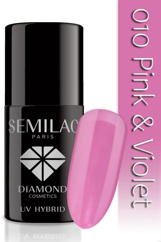Semilac Lakier hybrydowy Semilac 010 Pink & Violet - 7 ml 4723