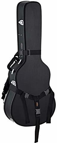 Ortega Guitars Economy Series Case Bundle do gitary akustycznej w rozmiarze Dreadnought Black Flat Top + zainstalowany pasek do plecaka (OACCSTD-DN-BU) OACCSTD-DN-BU