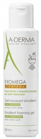 A-Derma Exomega Control pieniący się żel 500ml