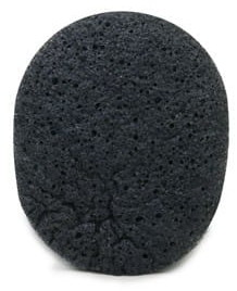 Konjac BEBEVISA Gąbka do twarzy owalna z dodatkiem z węgla bambusowego 8 X 7 cm średnicy BEBEVISA
