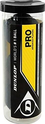 Dunlop na rakieta do squasha ball podwójne żółte piłki 3 W tubka FBA_700110