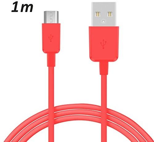 Huawei TheSmartGuard TheSmartGuard 1 x kabel micro USB, kompatybilny z P9 Lite, kabel do przesyłania danych/kabel do ładowania/kabel micro USB Premium w kolorze różowym 1 metr T-00059//220