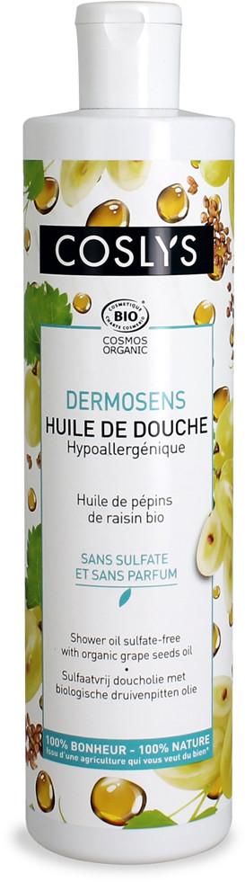 Coslys Dermosens, Bezzapachowy olejek pod prysznic z olejem z pestek winogron, 380 ml 3538396131901