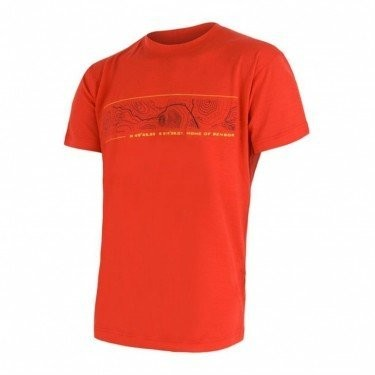 Sensor Termoaktywna koszulka męska MERINO ACTIVE PT TEE SS rozmiar M kolor pomarańczowy