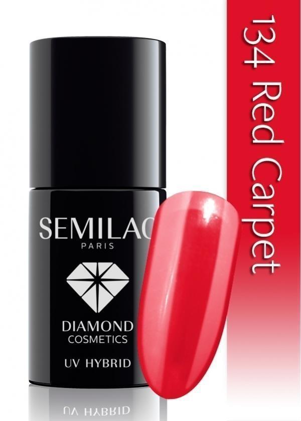 Semilac UV Hybrid lakier hybrydowy 134 Red Carpet 7ml