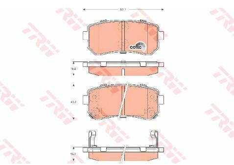 TRW Zestaw klocków hamulcowych, hamulce tarczowe GDB3421