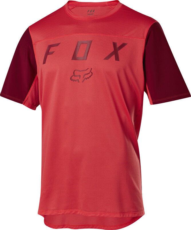 Fox Flexair Moth Koszulka z krótkim rękawem Mężczyźni, bright red XL 2020 Koszulki MTB i Downhill 22833-179-XL