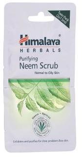 Himalaya Herbals Oczyszczający peeling do twarzy z miodlą indyjską Neem 2x6 ml
