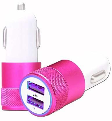 Asus Unbekannt Zenfone 5 Lite S430 ładowarka samochodowa, USB, 2 porty, bardzo szybka, 12/24 V, różowa AllumCig-ROSE_0308