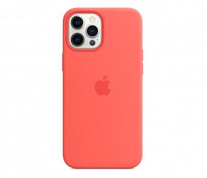 Apple Silikonowe etui iPhone 12 Pro Max różowy cytrus
