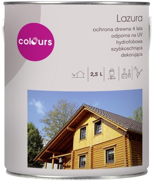 Colours Lazura satynowa  4 lata sosna 2 5 l