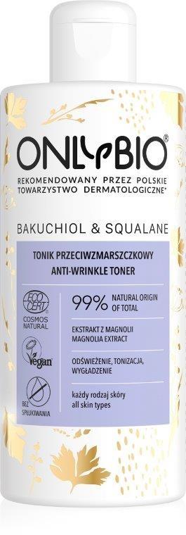 Bio ONLY (kosmetyki) TONIK DO TWARZY PRZECIWZMARSZCZKOWY BAKUCHIOL I SKWALAN ECO 300 ml - ONLY