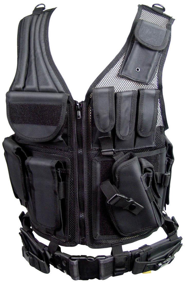 Umarex Walther Profesjonalna Wielofunkcyjna Kamizelka Taktyczna UTG Combat Zone Black