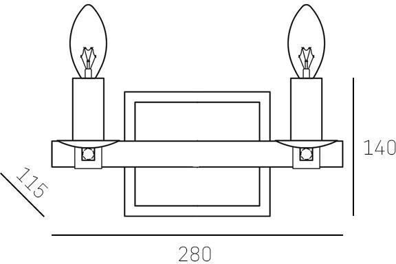 Cosmo Light Kinkiet PORTLAND W02278NI WD W02278NI WD