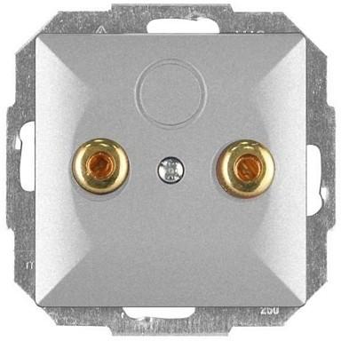 Abex Perła srebrny gniazdo głośnikowe PT-2GP PT-2GP-srebrny