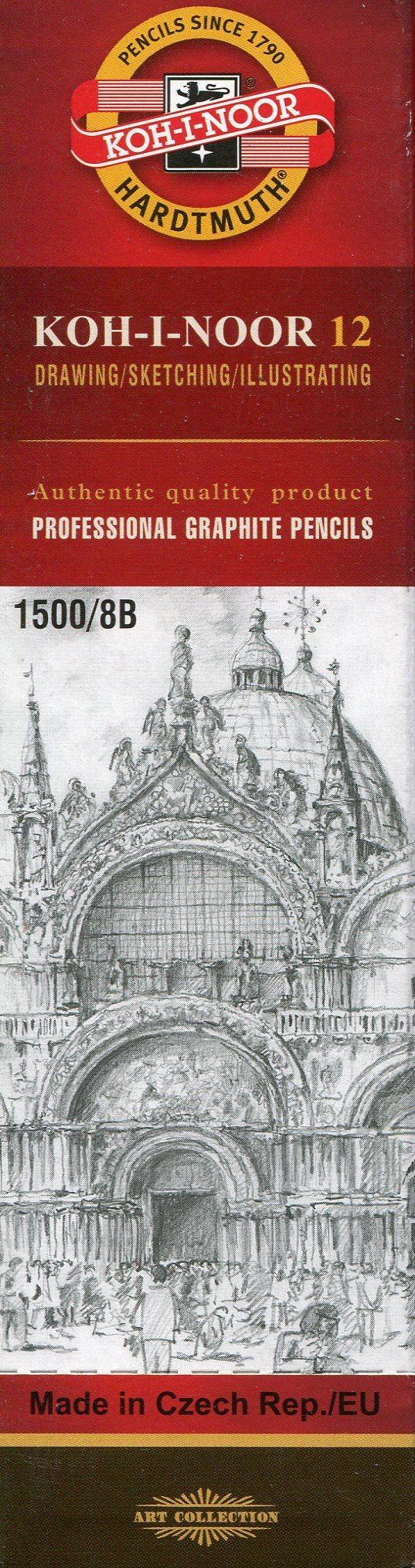 Koh-I-Noor Koh-I-Noor Ołówek grafitowy 1500/8B 12 szt