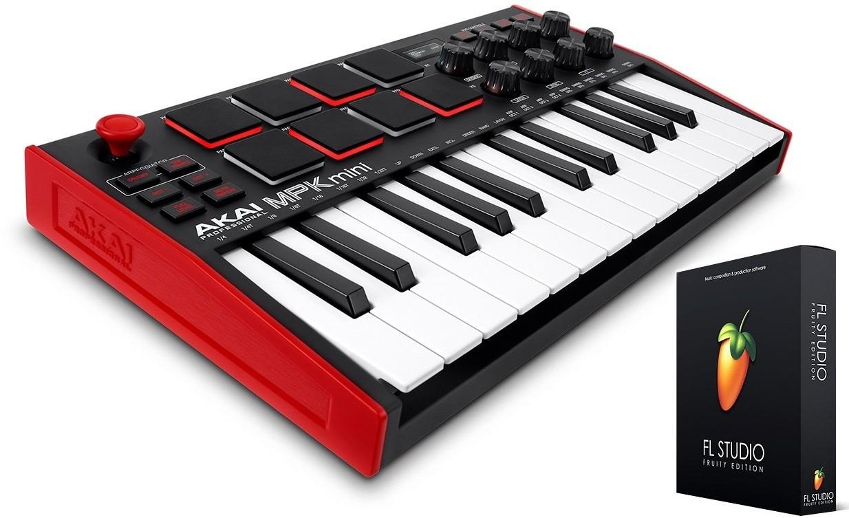 AKAI Professional MPK MINI MK3 - mini klawiatura + FL Studio 20 Fruity Edition BOX