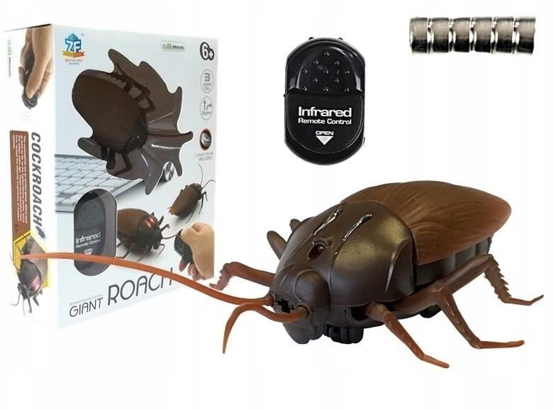 Import Karaluch Insekt Sterowany R/C Brązowy 4021