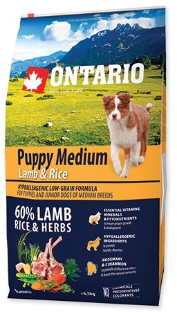 Ontario Puppy Medium Lamb & Rice jagnięcina 6,5kg