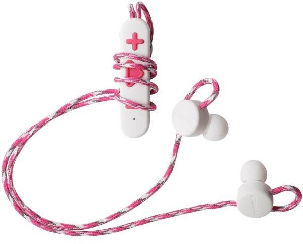 Boompods Retrobuds biało-różowe